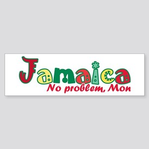 Jamaica No Problem Sticker (Bumper)
