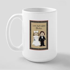 Country Prim Wedding Large Mug