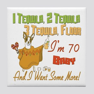 Tequila 70th Tile Coaster