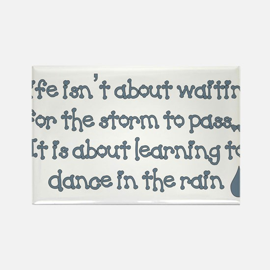 Dance In The Rain Rectangle Magnet (10 pack)