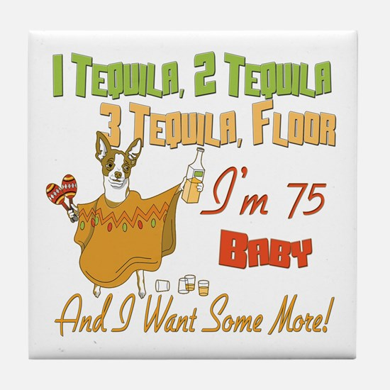 Tequila 75th Tile Coaster