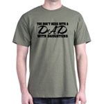 Dad with Daughters Dark T-Shirt
