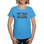 Dad with Daughters Women's Dark T-Shirt