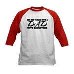 Dad with Daughters Kids Baseball Jersey