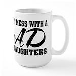 Dad with Daughters Large Mug