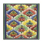 Colourful Blooms Tile Coaster