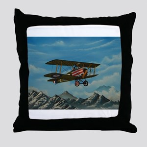 """Sopwith Camel"" Throw Pillow"