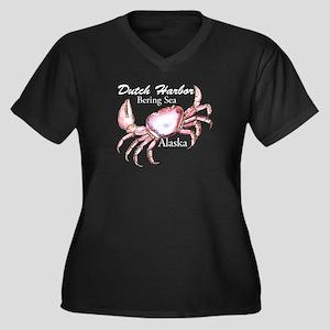 Dutch Harbor Crab 23 Women's Plus Size V-Neck Dark