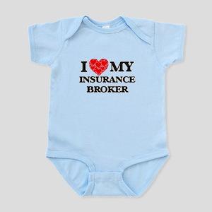 I Love my Insurance Broker Body Suit