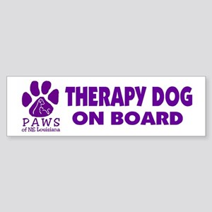 Therapy Dog on Board Bumper Sticker