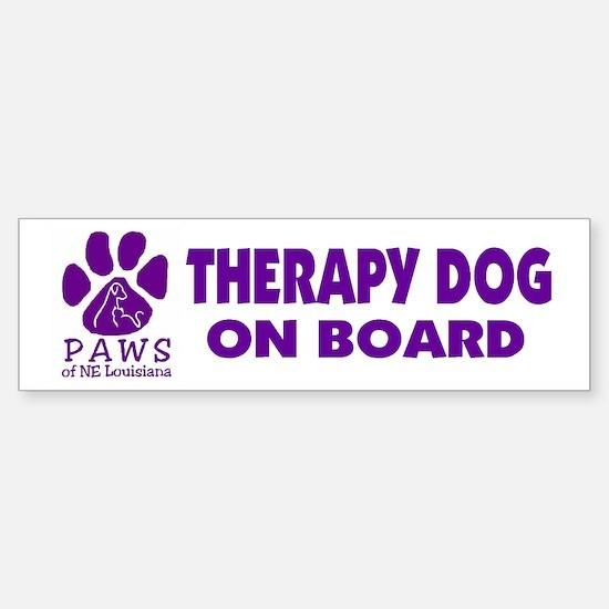 Therapy Dog on Board Bumper Bumper Bumper Sticker
