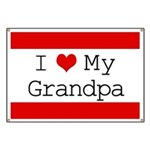 I Heart My Grandpa Banner