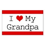 I Heart My Grandpa Rectangle Sticker 10 pk)