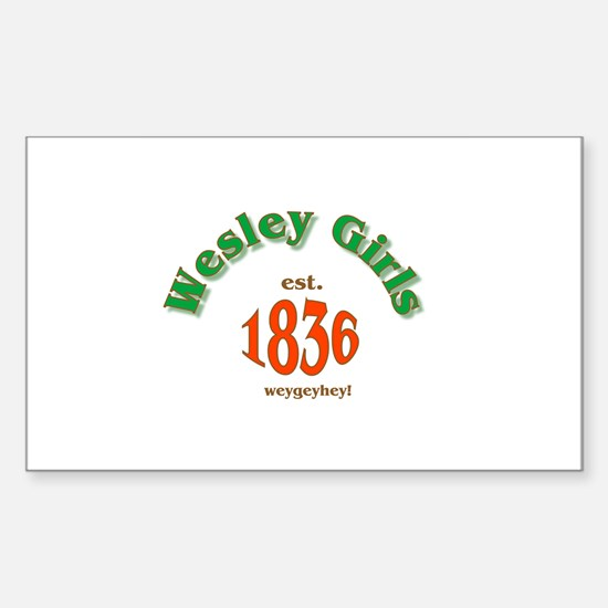 Wesley Girls WGHS Psychedelic Rectangle Sticker 1