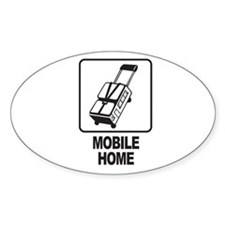 Mobile Home Oval Sticker
