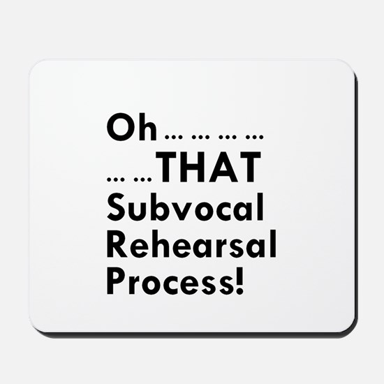 Subvocal Mousepad
