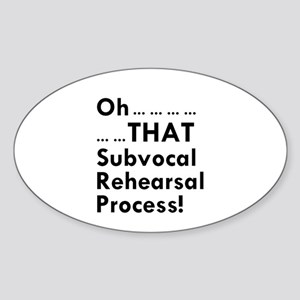 Subvocal Oval Sticker