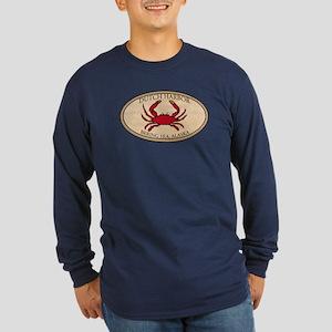 Crab Fishing Alaska Long Sleeve Dark T-Shirt