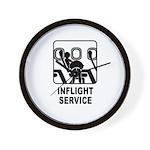 Inflight Service Wall Clock