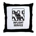 Inflight Service Throw Pillow