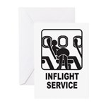 Inflight Service Greeting Cards (Pk of 10)