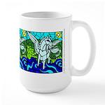 Pegasus the flying horse Large Mug