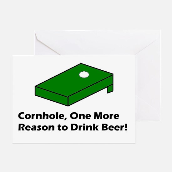 Cornhole and Beer Greeting Card