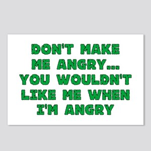 Don't Make Me Angry Postcards (Package of 8)