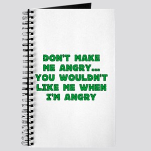 Don't Make Me Angry Journal