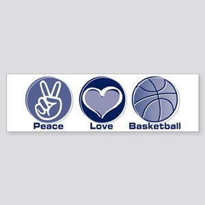 Peace Love Basketball Sticker (Bumper)