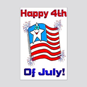 Happy 4th of July Mini Poster Print
