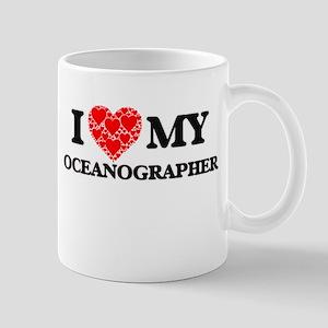 I Love my Oceanographer Mugs