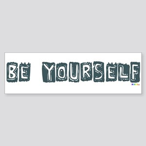 Be Yourself Camo Blue bumper sticker