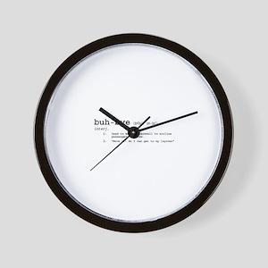 Buh-Bye! Wall Clock