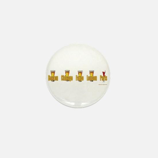 Unique North dakota Mini Button