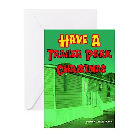 Trailer Park Christmas Greeting Cards