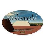 Kolomoki Mounds Oval Sticker