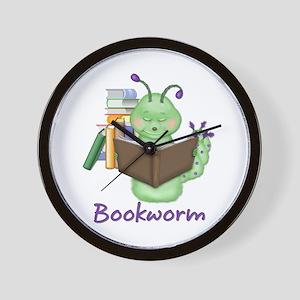 Reading Bookworm Wall Clock