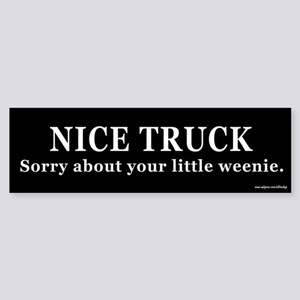 Nice Truck Little Weenie Bumper Sticker