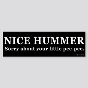 Nice Hummer Little Pee-Pee Bumper Sticker