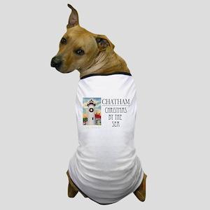 """Chatham Christmas By The Sea"" Dog T-Shirt"