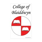 Blaiddwyn Populace Badge Rectangle Sticker 10 pk)