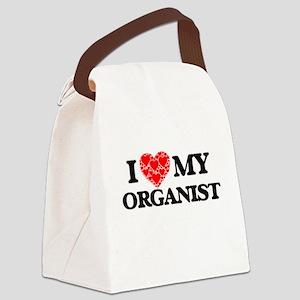 I Love my Organist Canvas Lunch Bag