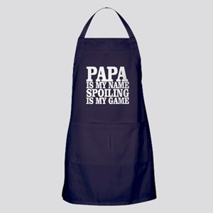 Papa Is My Name Spoiling Is My Game T Apron (dark)