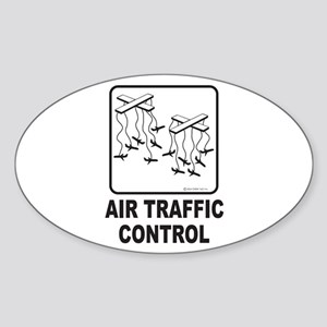 Air Traffic Control Oval Sticker