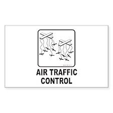 Air Traffic Control Rectangle Sticker