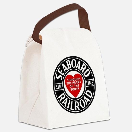 Unique Railroad depot Canvas Lunch Bag