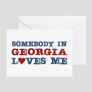Somebody in Georgia Loves Me Greeting Card