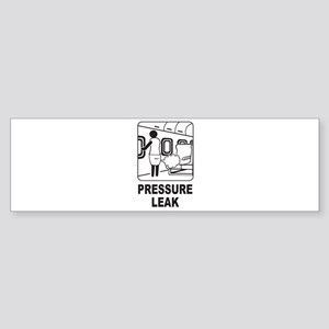 Pressure Leak Bumper Sticker