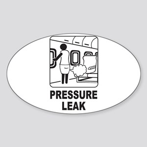 Pressure Leak Oval Sticker